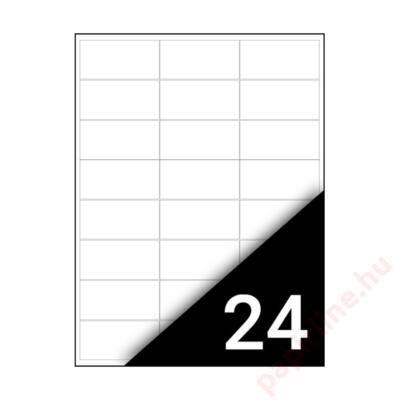 Etikett FORTUNA 70x36mm univerzális 2400 címke/doboz 100 ív/doboz