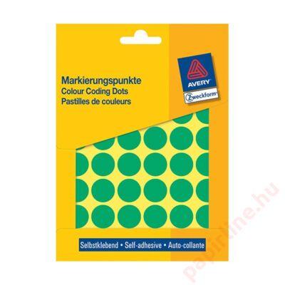 Etikett AVERY 3376 jelölő 18mm zöld